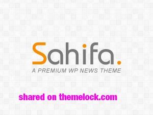 Sahifa (shared on themelock.com) best WordPress magazine theme
