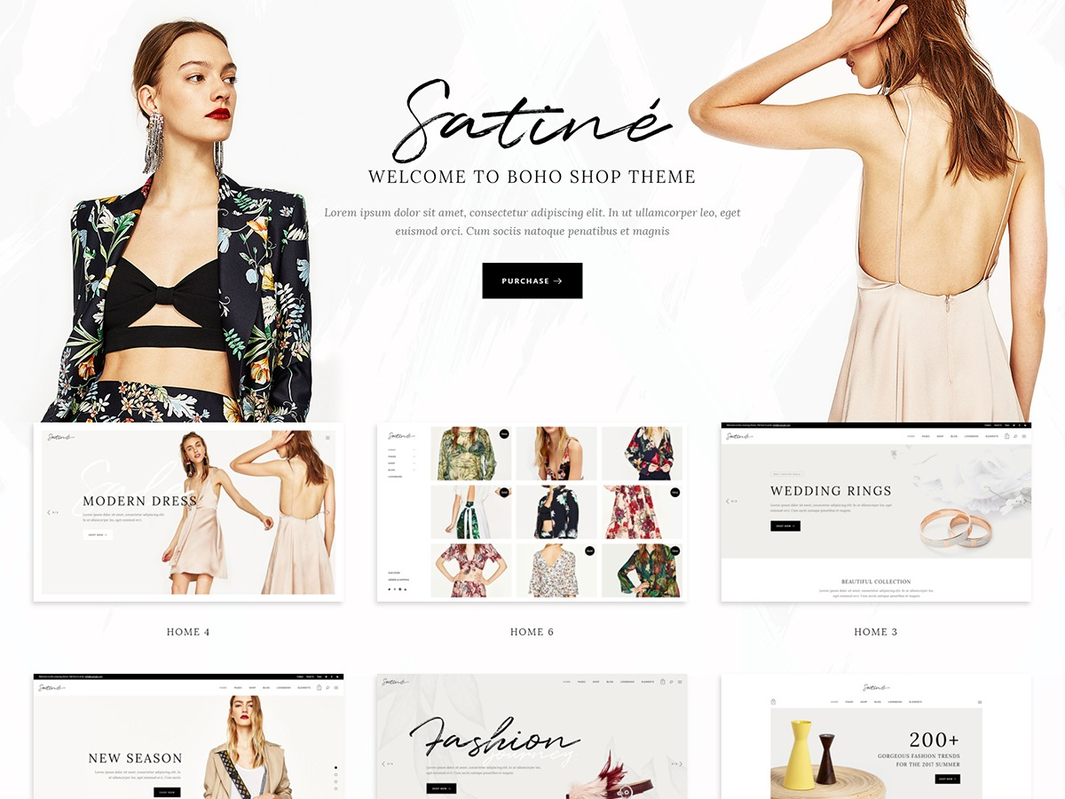 Satine best WooCommerce theme