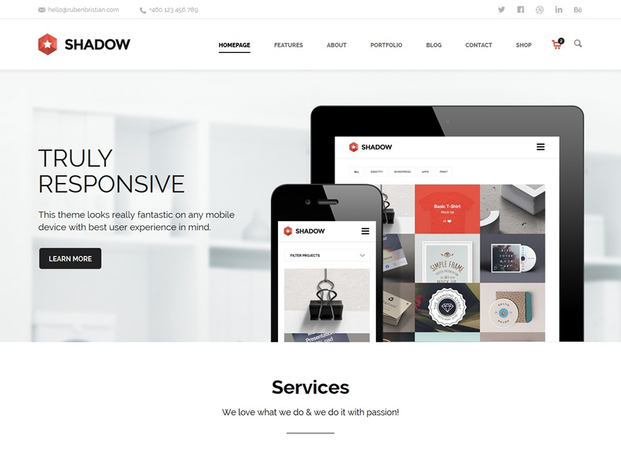Shadow WordPress theme