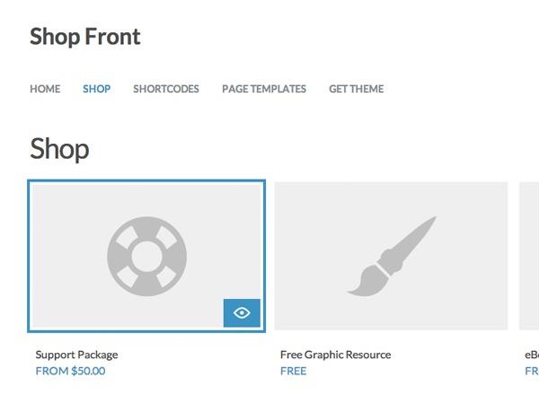 Shop Front WordPress shop theme