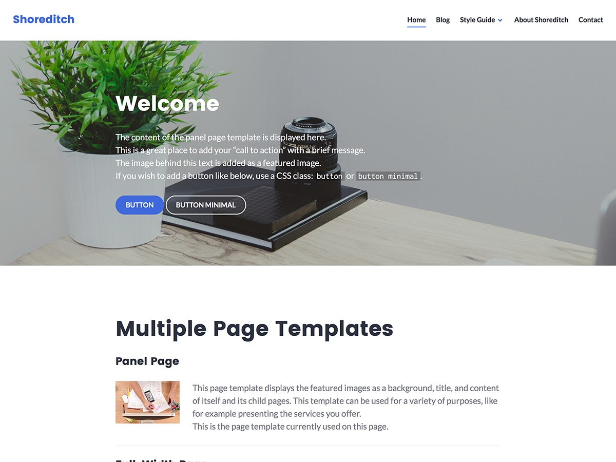 Shoreditch WordPress theme download