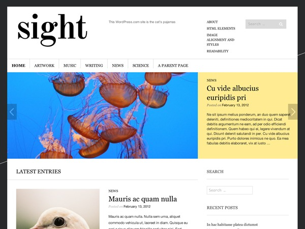 Sight - WordPress.com WordPress blog template