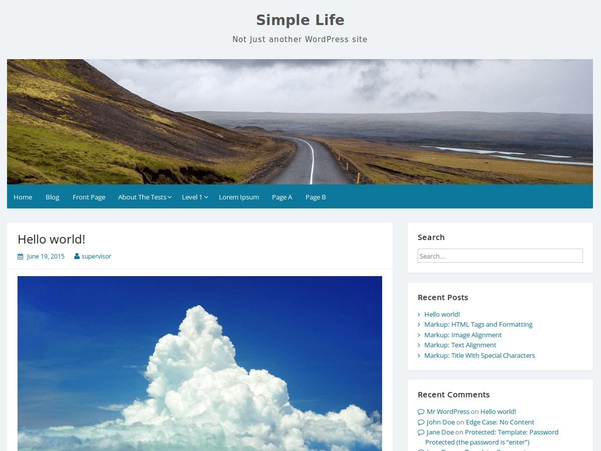 Simple Life WordPress template free