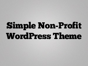 Simple Non-Profit Theme WordPress page template