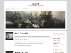 Skirmish WordPress blog theme