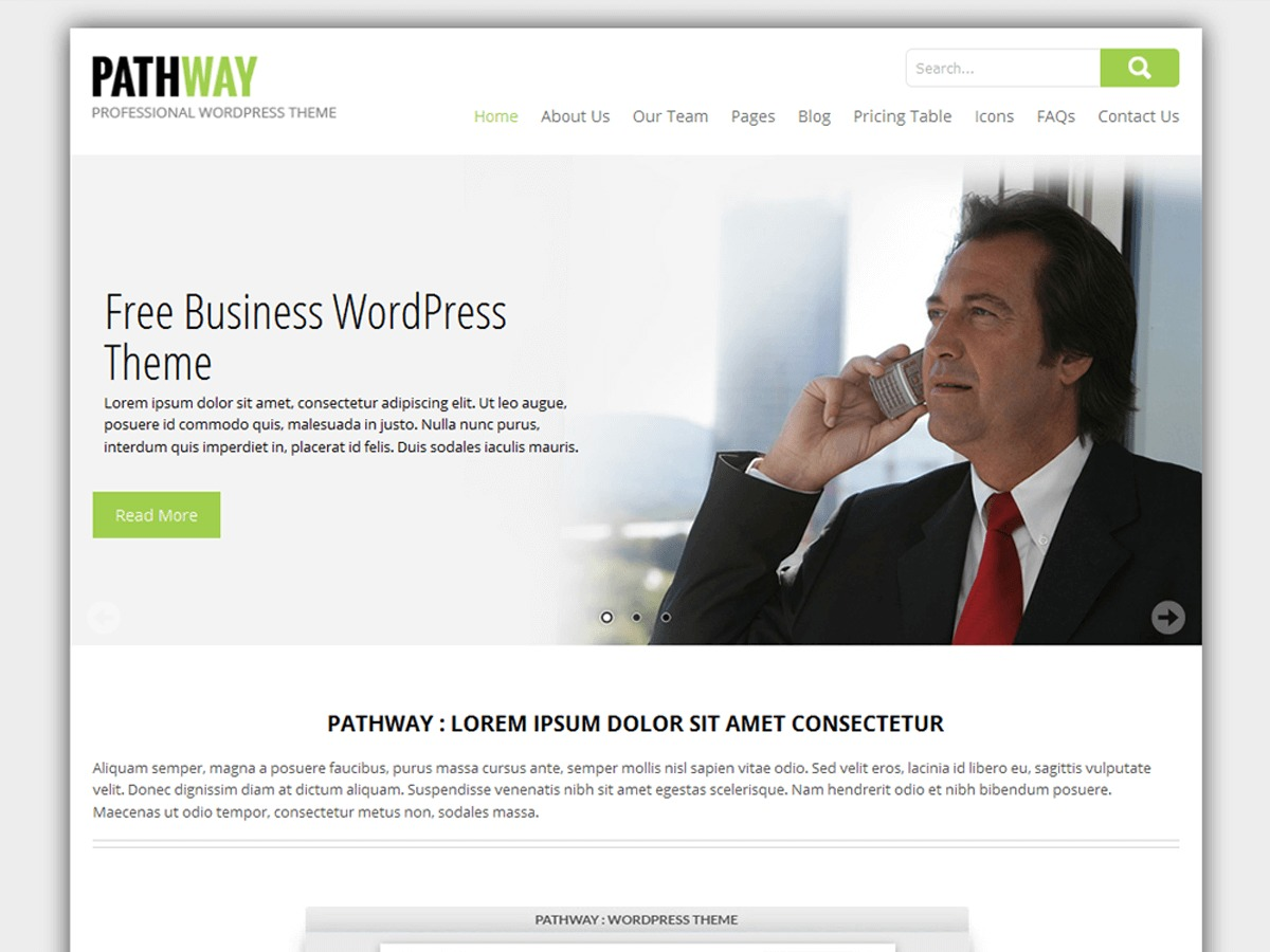 SKT Pathway WordPress shop theme