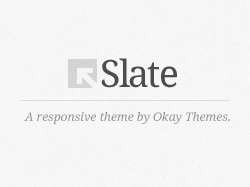 Slate WordPress Theme WordPress theme