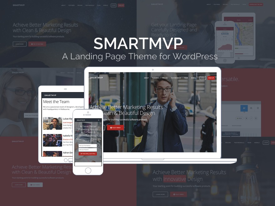 SmartMVP theme WordPress portfolio