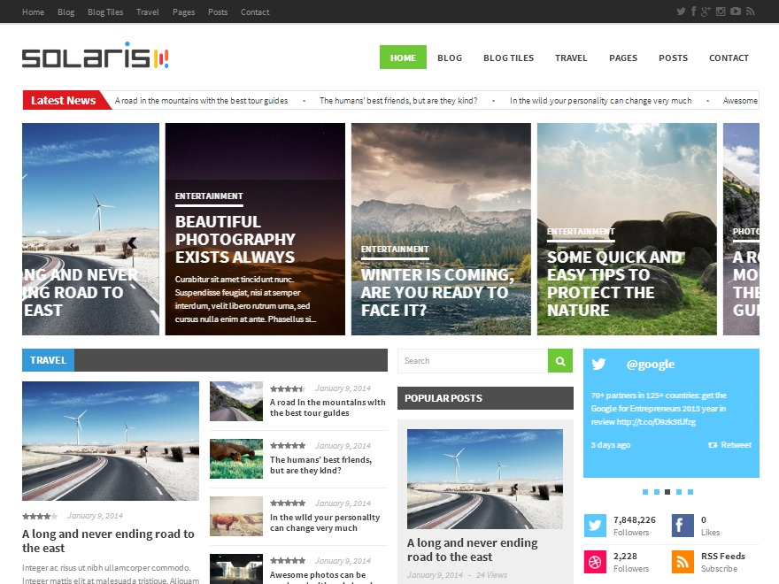 Solaris best WordPress magazine theme