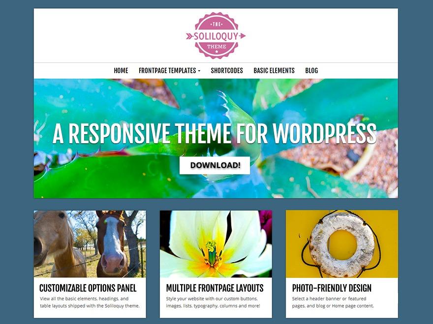 Soliloquy WordPress photo theme