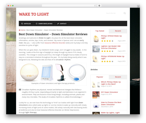 Free WordPress WP Review plugin - waketolight.com