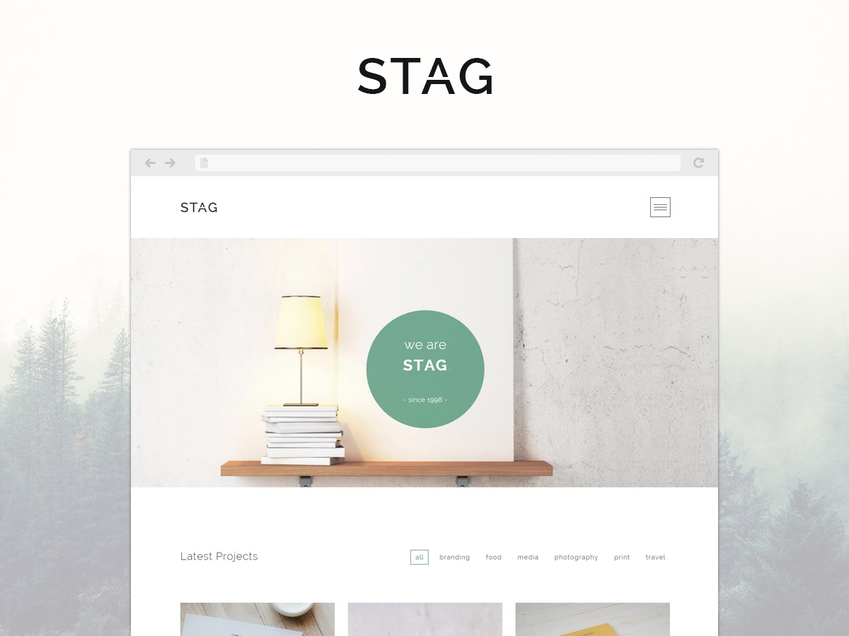 Stag WordPress portfolio theme