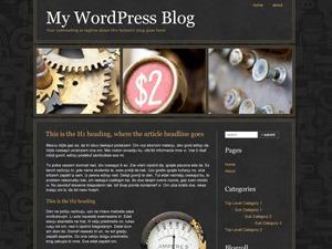 Steampunk WordPress blog theme