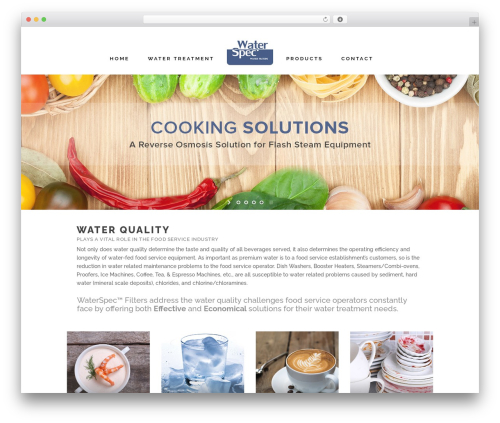 Stockholm WordPress theme - waterspec.com
