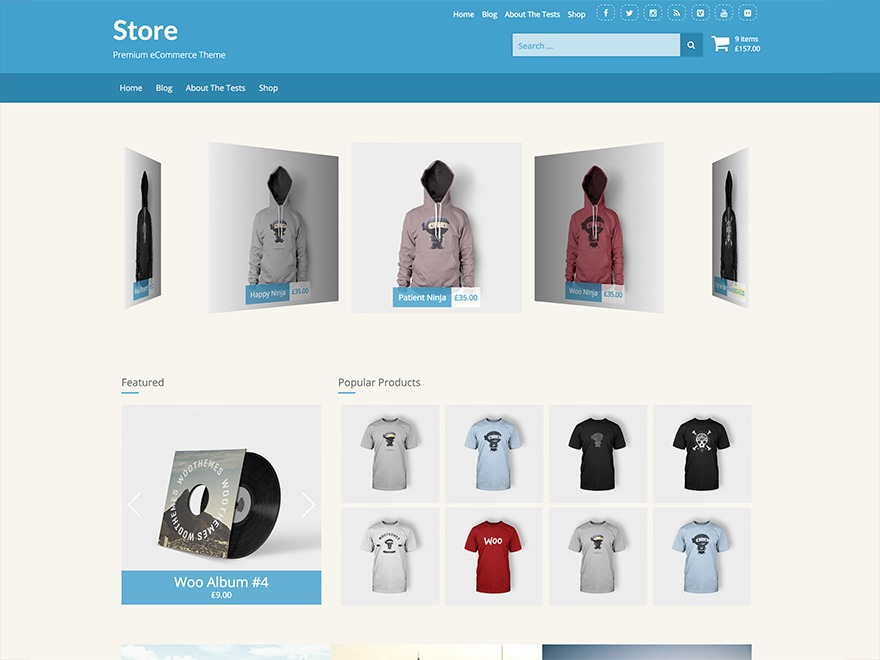 Store best free WordPress theme