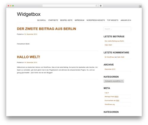 Storefront Paper WordPress shop theme - widgetbox.de