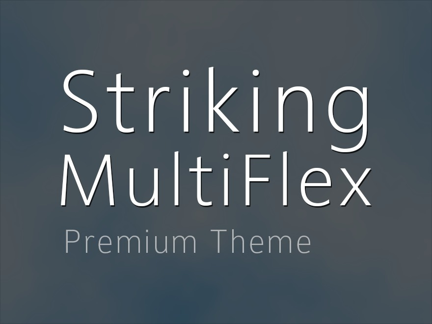Striking MultiFlex Child Theme WordPress ecommerce theme