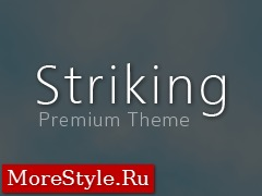 Striking WordPress template