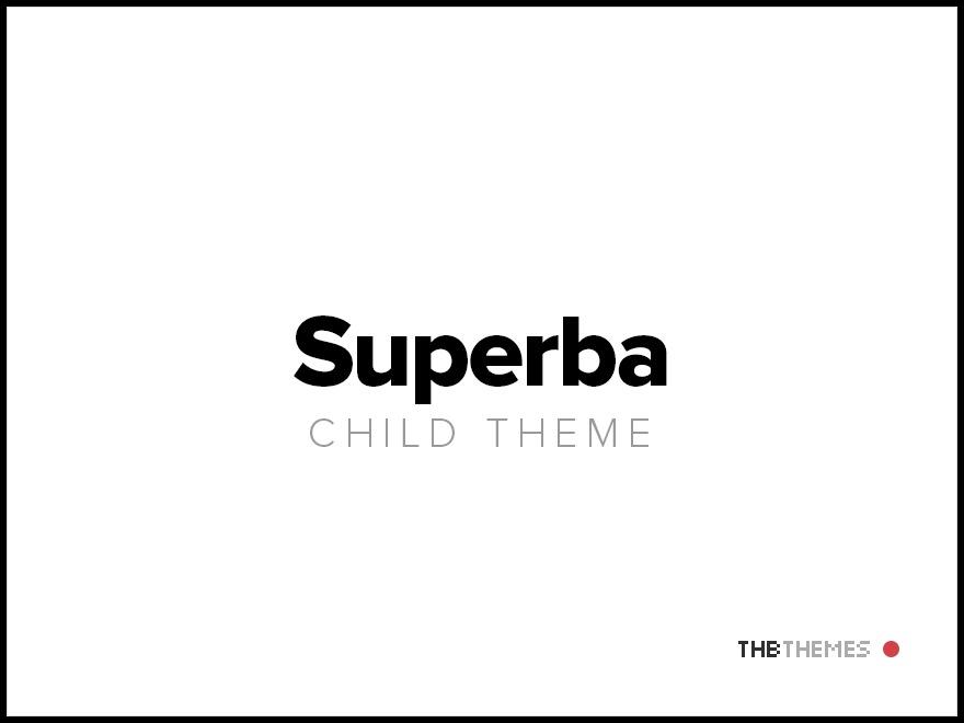 Superba Child theme best WordPress gallery