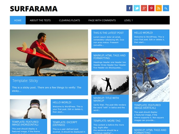 Surfarama WordPress magazine theme
