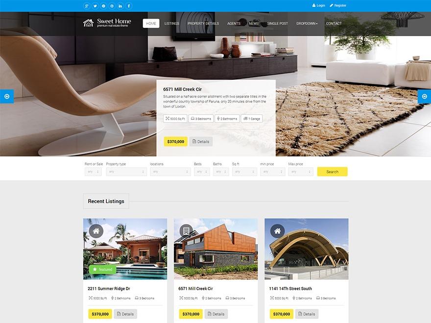 SweetHome WordPress real estate