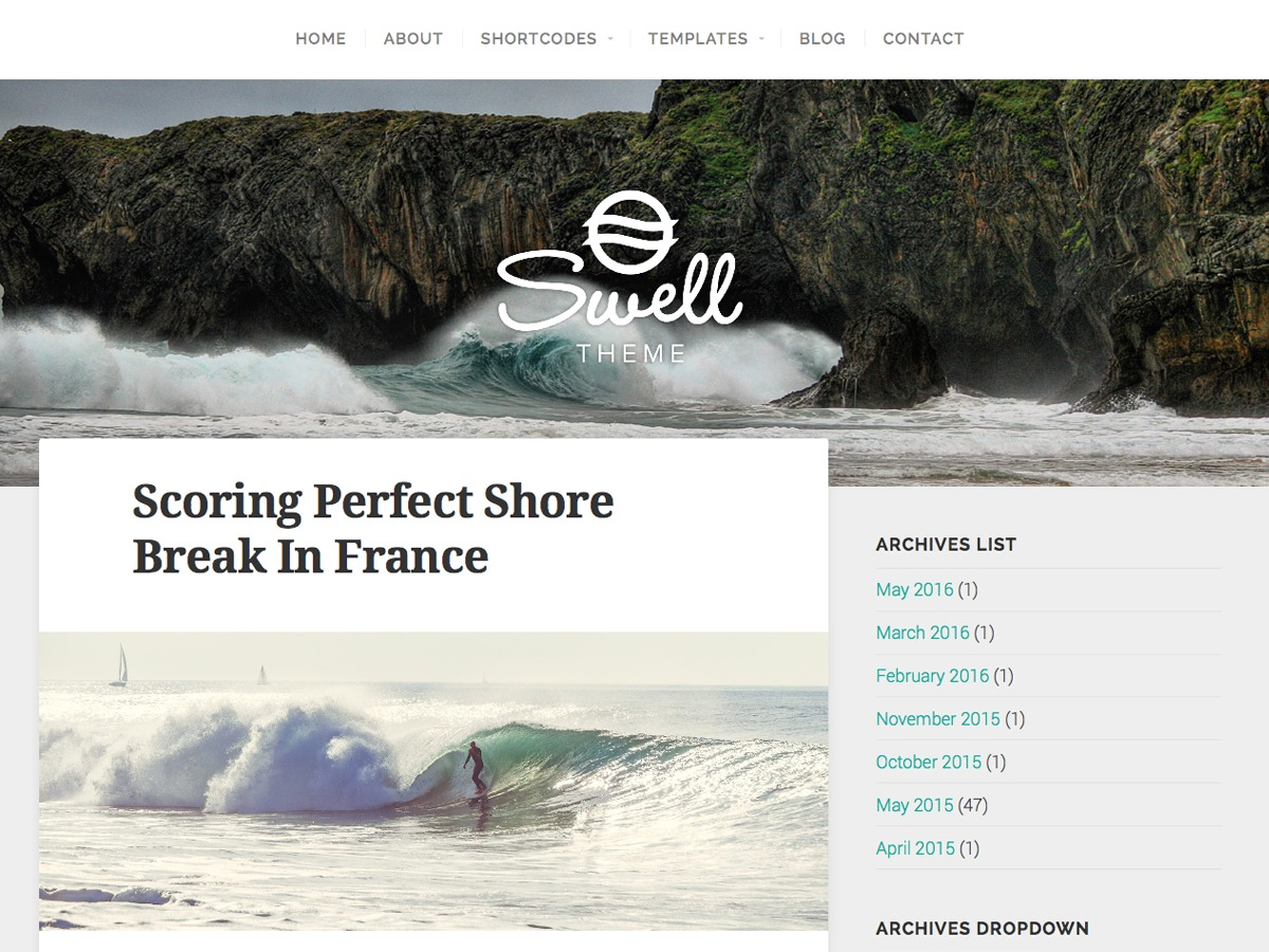 Swell Lite WordPress template free