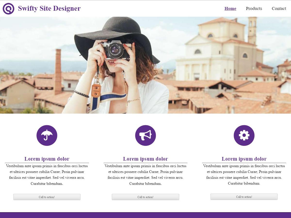 Swifty Site Designer best WordPress gallery