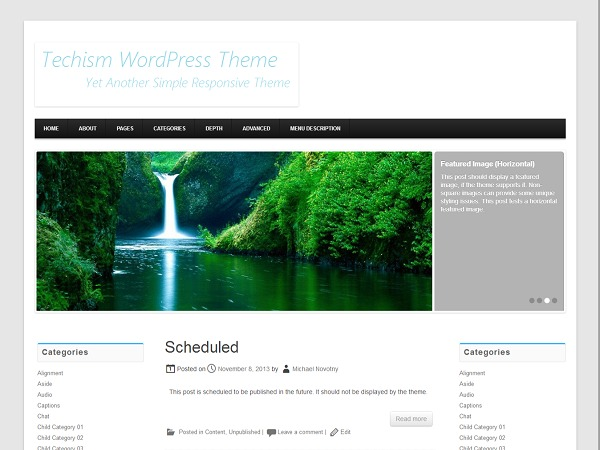 Techism free WordPress theme