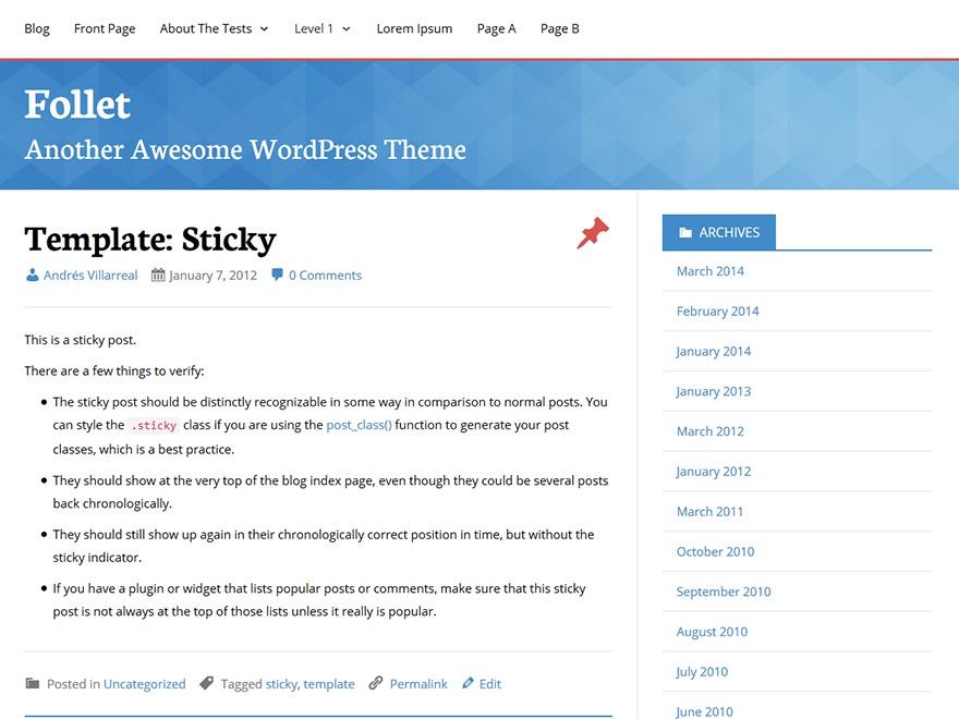 Template WordPress Follet