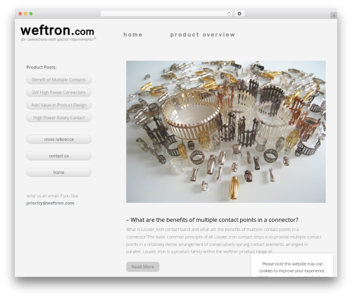 TESSERACT WordPress website template - weftron.com