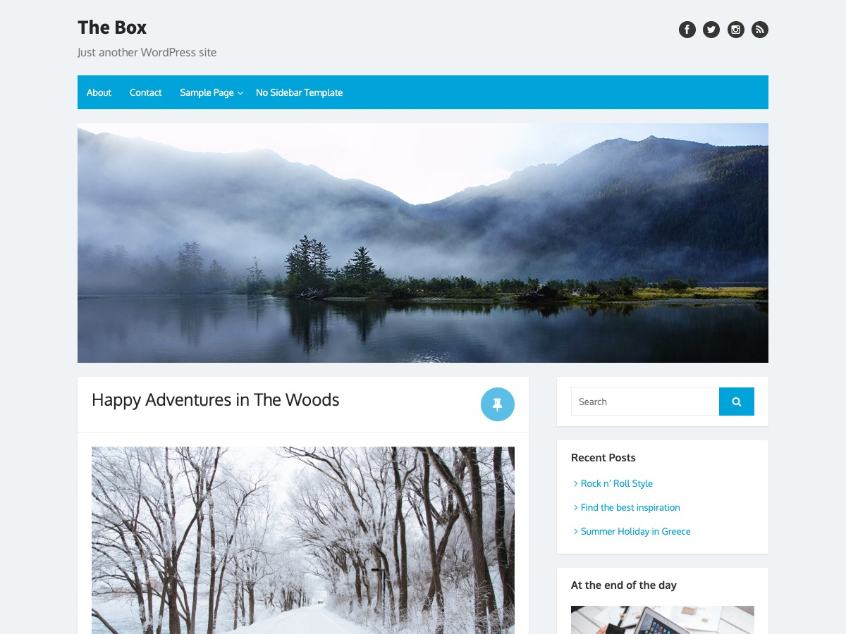 The Box free WordPress theme