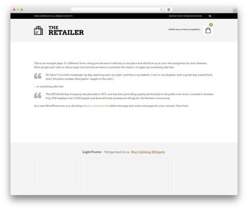 The Retailer (shared on wplocker.com) theme WordPress - wmart.co.za