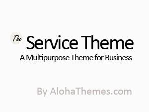 The Service Theme WordPress page template