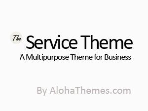 The Service Theme WordPress page template