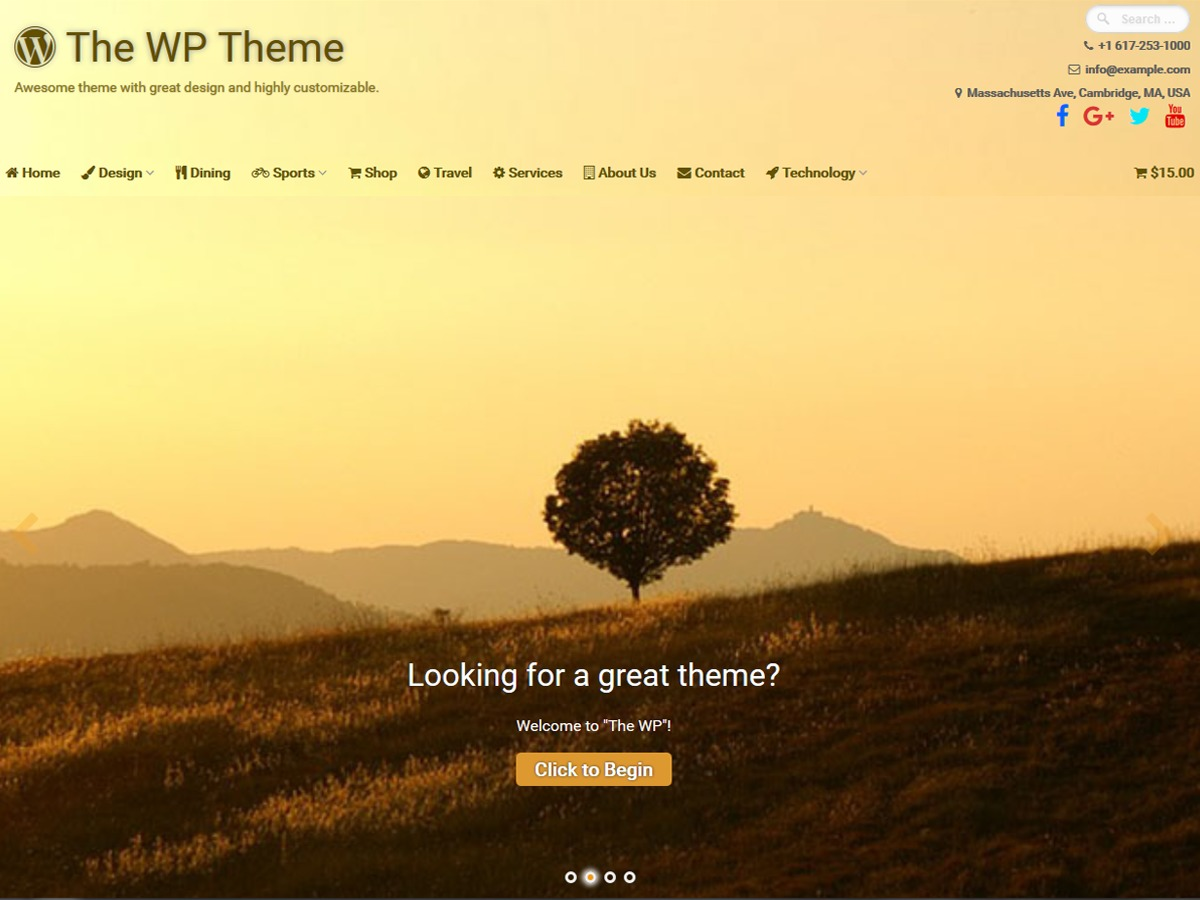 The WP template WordPress free