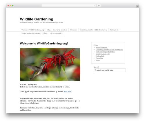 Thematic WordPress theme - wildlifegardening.org