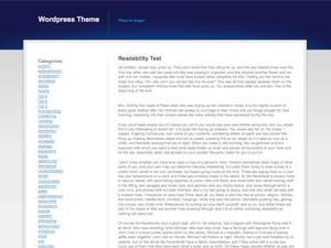 Theme WordPress Blue Grey White