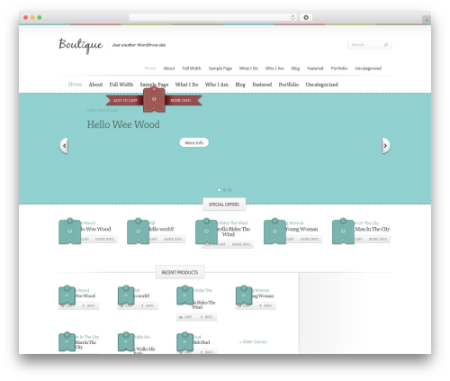 Theme WordPress Boutique - weewood.com