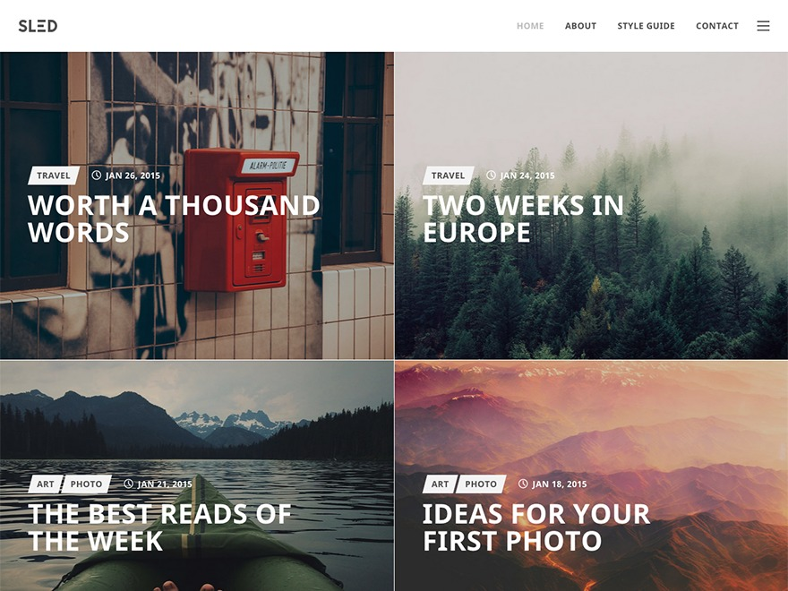 Theme WordPress SLED