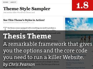 Thesis WordPress theme design