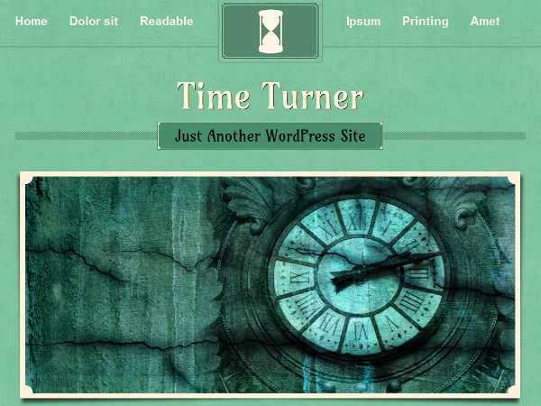TimeTurner WordPress blog template