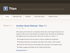 Titan WordPress video template