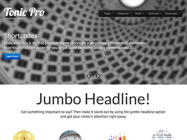 Tonic Pro WordPress template for photographers