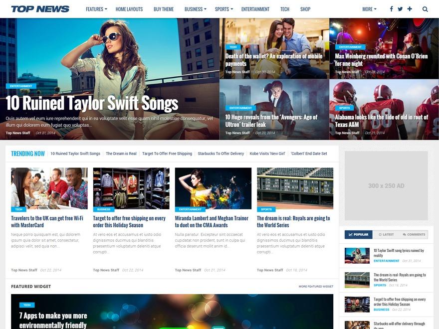 Top News WordPress news theme