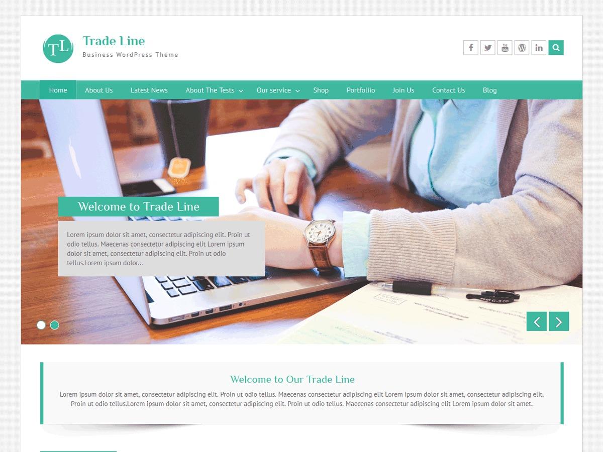 Trade Line free WP theme