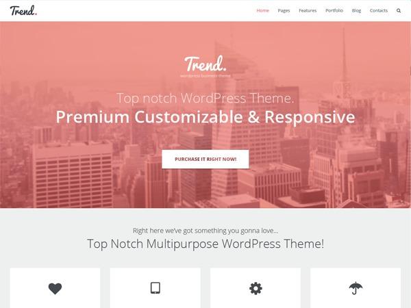 Trend Multipurpose Responsive WordPress Theme WordPress theme