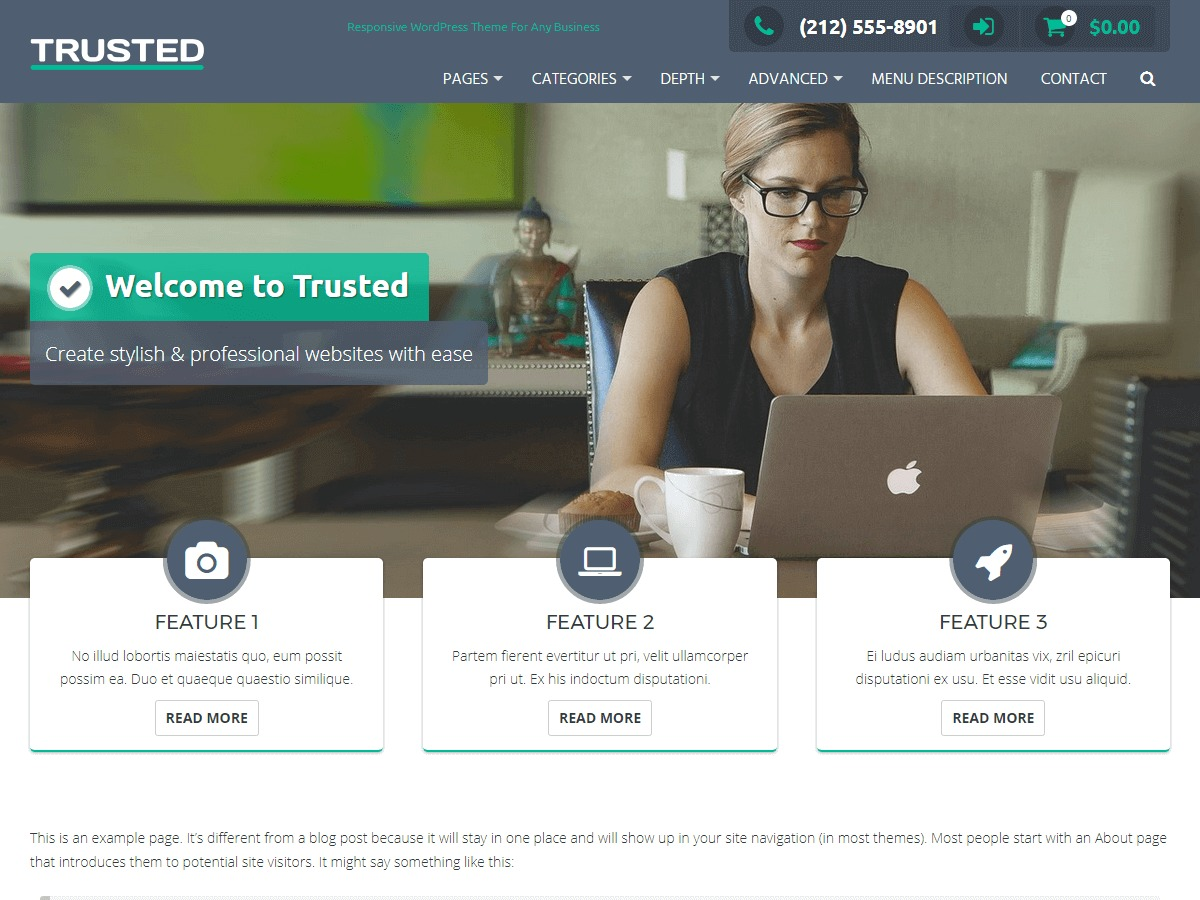 Trusted template WordPress free