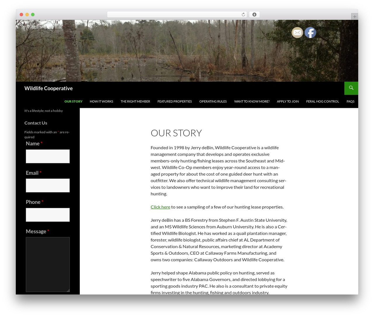 Twenty Fourteen free website theme - wildlifecooperative.com