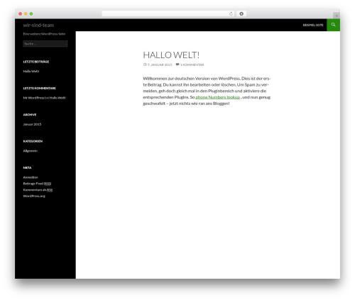Twenty Fourteen template WordPress free - wir-sind-team.com