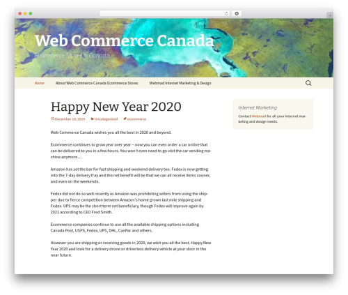 Twenty Thirteen best WooCommerce theme - webcommercecanada.ca